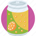 can, cold drink, orange soda, soda, soft drink icon