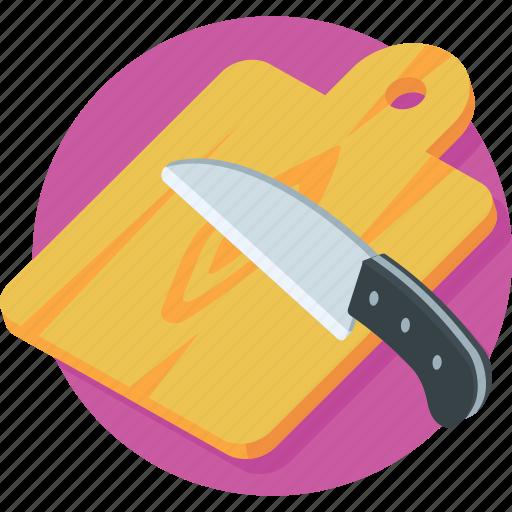 chef board, chopping board, cutting board, kitchen utensil, knife icon