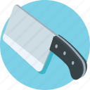 butcher cleaver, butcher knife, cleaver, cutting tool, kitchen utensil icon