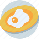 breakfast, cooked egg, egg omelette, fried egg, scrambled egg icon
