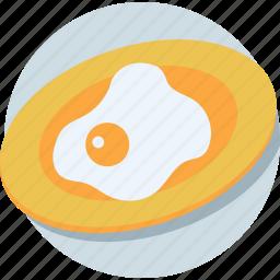 breakfast, cooked egg, egg omelette, fried egg, scrambled egg icon