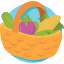 cooking, grocery, grocery basket, kitchen, vegetable icon