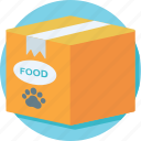 dog food, food pack, pet food, pet goodies, pet treat icon