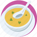 hot soup, meal, nutrition, soup, soup bowl icon
