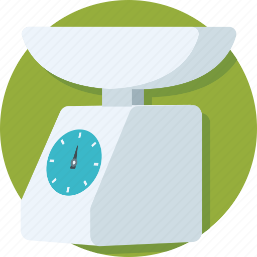cooking scale, food scale, kitchen scale, weight machine, weight scale icon