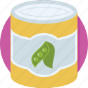 food box, nutrition, peas, peas box, vegetable icon