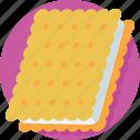 bakery, biscuit, cookie, cracker, snack