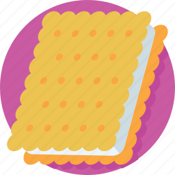 bakery, biscuit, cookie, cracker, snack icon