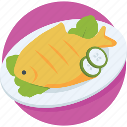 cooked fish, fish, protein, raw fish, seafood icon