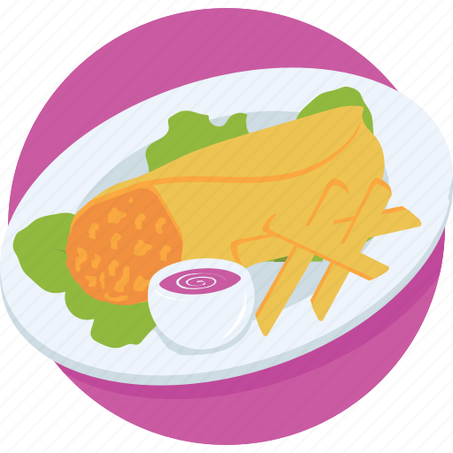 baked, dish, fried, indian food, sandwich icon