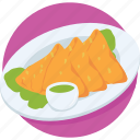 baked, dish, food, samosa, sandwich icon