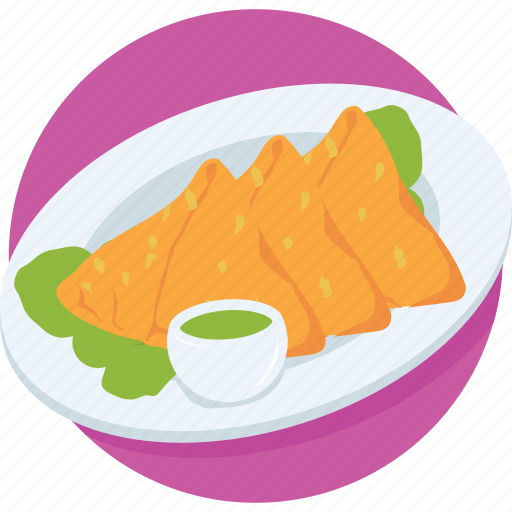 baked, dish, food, samosa, sandwich icon