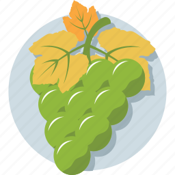 bunch of grapes, diet, fruit, grapes, healthy food icon
