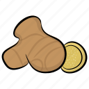 food, ginger, ginger root, spice, vegetable icon