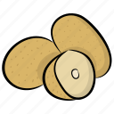 food, healthy diet, nutrition diet, potato, raw potato, vegetable icon