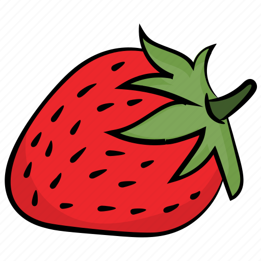 fresh strawberry, fruit, healthy diet, healthy food, strawberry icon