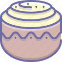 bun, cinnamon, cinnamon bun, cinnamon roll, pastry, roll icon