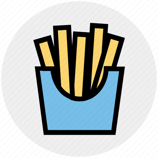 chips, eating, food, french fries, fries, junk icon