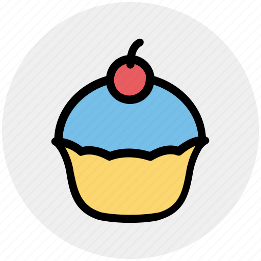 birthday, cake, cupcake, dessert, food, muffin, sweet icon