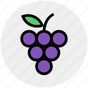 berries, flavor, food, fruit, fruits, grape, slot icon