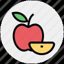 apple, apple slice, eating, energy, fitness, food, fruit