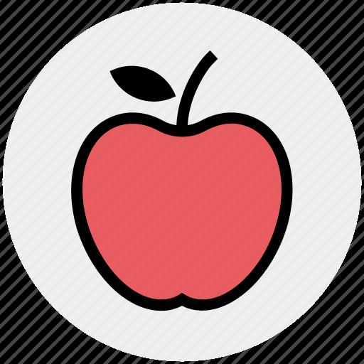 apple, apple slice, eating, energy, fitness, food, fruit icon