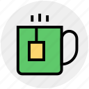 coffee, cup, hot coffee, hot tea, mug, tea icon