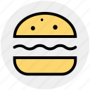 burger, cheeseburger, eating, fast food, food, hamburger, snack icon