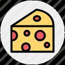 cheese, slice, food, edam, swiss, breakfast, eat