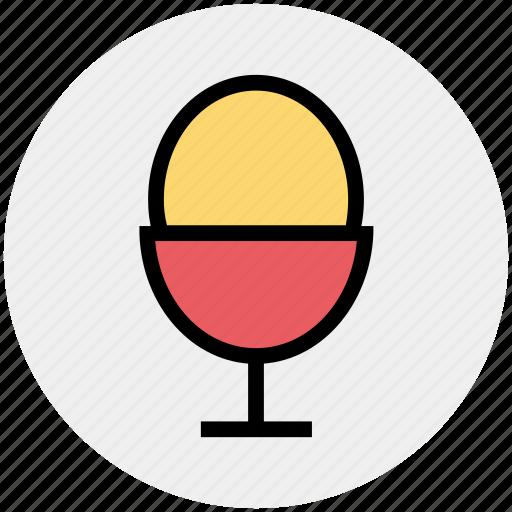boiled, egg, egg cup, egg holder, egg server, egg storage, food icon