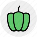 bell pepper, bulgarian, food, pepper, salad, sweet, vegetables icon