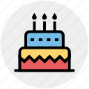 birthday cake, cake, celebration, food, wedding cake icon