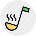 food, kitchen, ladle, soup taste, spoon, taste, utensil icon