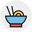 bowl, chinese, chinese food, food, noodles, sticks