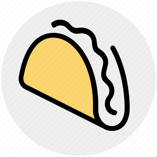 fast, fast food, food, junk food, lunch, taco, tortilla icon