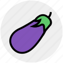 brinjil, delicious, eggplant, food, vegetables icon
