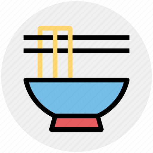 bowl, chinese, chinese food, food, noodles, sticks icon