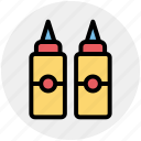 bottle, culinary, ketchup, mustard, sauce, tomato ketchup, tomato paste icon
