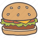 burger, hamburger, snack icon
