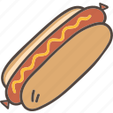 dog, fast, food, hot, hotdog icon