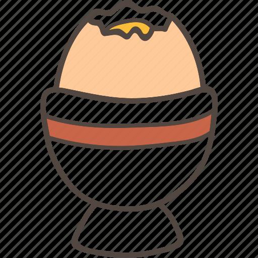 boiled, egg, food, holder icon