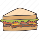 bread, breakfast, club, food, sandwich icon