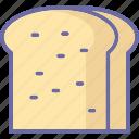 bread, bread slice, bread slice vector, bread toast, breakfast, toast icon