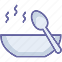 hot food, hot soup, meal, soup icon