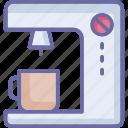 coffee brewer, coffee machine, coffee maker, coffee percolator icon