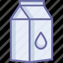 milk box, milk carton, milk container, milk pack icon