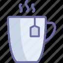 hot drink, instant tea, tea bag, tea cup icon