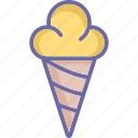 cone, cup cone, ice cone, ice cream icon