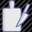 chopping block, chopping board, cutting board, kitchen utensil icon