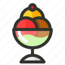 balls, cream, dessert, food, ice icon